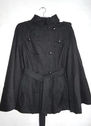 Невероятное пальто-кейп шерсть s-m / 36-38
