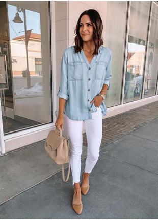 Рубашка джинсовая летняя