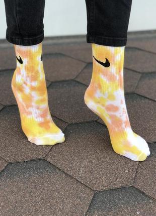 Nike носки высокие tie-dye original