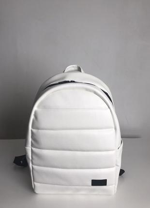 Рюкзак жіночий чоловічий білий для ноутбука великий женский мужской белый большой