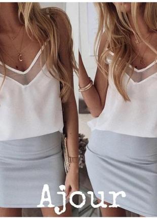 Блузка на тонких бретельках8 фото