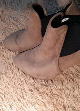 Ботильйоны ботинки на каблуке 40р. 26,5 см по стельке