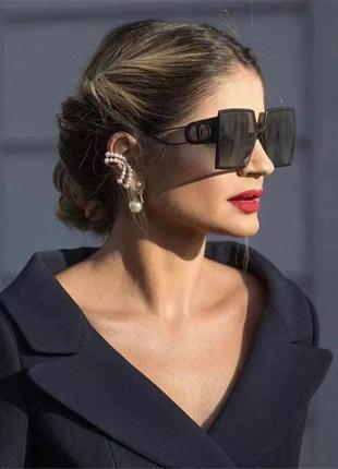 Широкие солнцезащитные очки тренд 2021! женские очки
