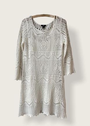 Ажурное  летнее  платье, крупная вязка-сетка от h&m. распродажа гардероба 💣