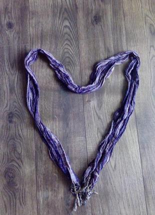 Стильный сиренево-фиолетовый шарфик