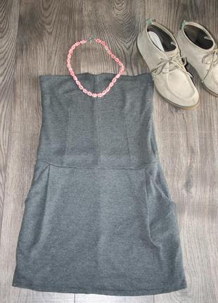 Платье-бюстье stradivarius (s-m)