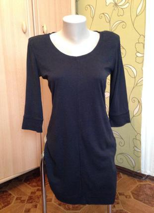 Трикотажная туника платье с-ка