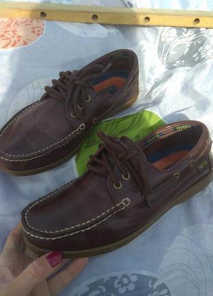 Кожаные топсайдеры, тапочки, туфли