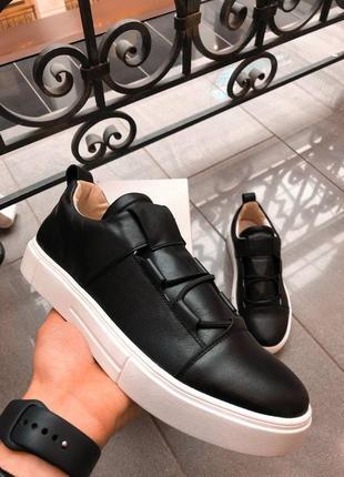Мужские кожаные кроссовки. весна. туфли кеды2 фото