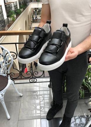 Мужские кожаные кроссовки. весна. туфли кеды