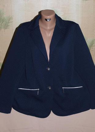 Классный пиджак (xl замеры) стёганый квадрат, без нюансов, замечательно смотрится