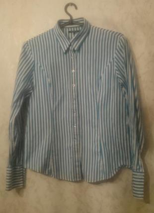 Рубашка в полоску под запонки