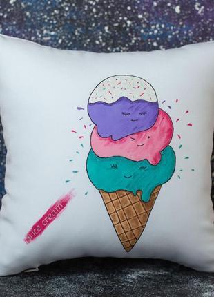 Декоративная подушка «мороженка»