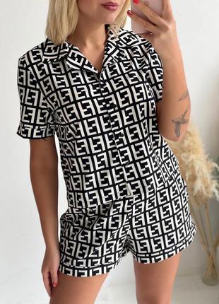Женская пижама с принтом фенд