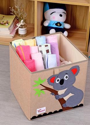 Складной ящик для игрушек, бежевый. коала.