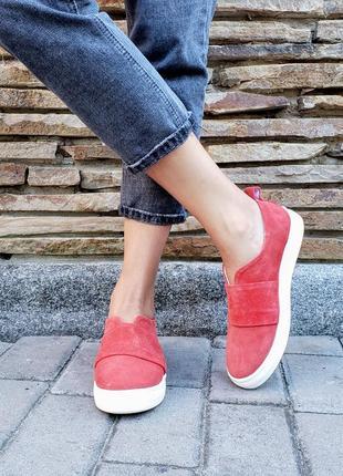 Замшевые слипоны р32-41 мокасины балетки туфли сліпони мокасини туфлі