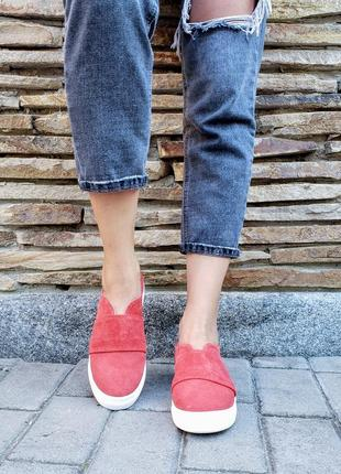 Замшевые слипоны р32-41 мокасины балетки туфли сліпони мокасини туфлі2 фото