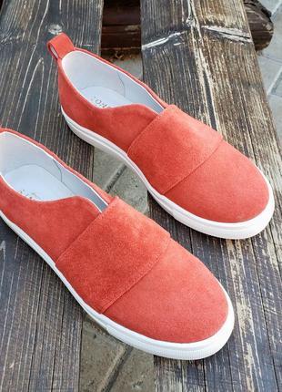 Замшевые слипоны р32-41 мокасины балетки туфли сліпони мокасини туфлі4 фото