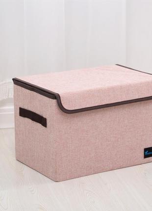 Складной ящик с крышкой. розовый.