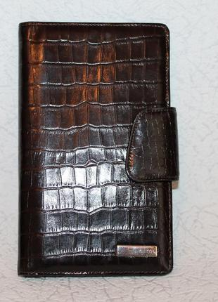 Большой кожаный кошелек karya