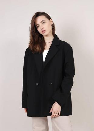 Пиджак свободного кроя  черный