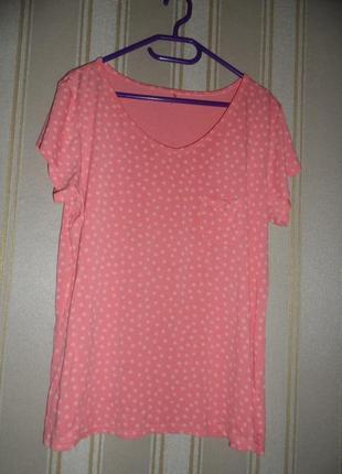 Женская футболка размер 44-46//  xxl-3xl вискоза