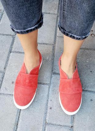 Замшевые слипоны р32-41 мокасины балетки туфли сліпони мокасини туфлі7 фото