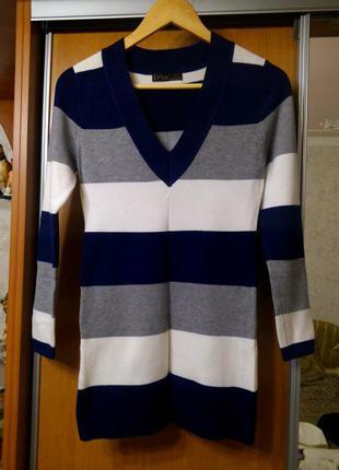 Теплый пуловер кофта