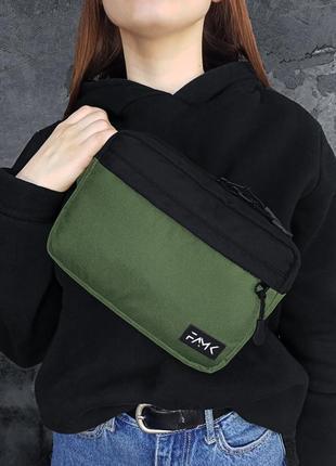 Поясная сумка famk r3 khaki black
