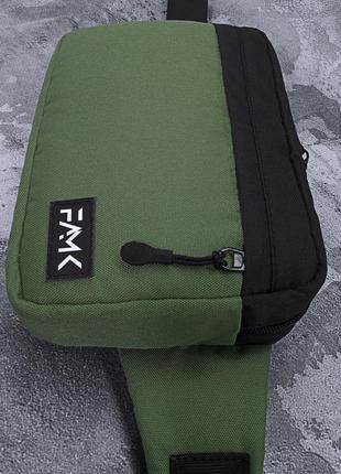 Поясная сумка famk r3 khaki black6 фото