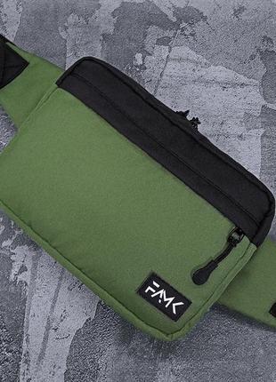 Поясная сумка famk r3 khaki black4 фото