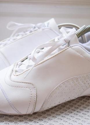 Кожаные кроссовки кросовки кеды мокасины пума puma р.40 26 см