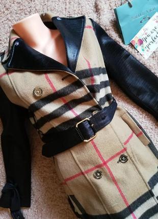 Брендовое шикарное пальто от burberry