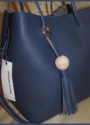 Vip роскошная объемная кожаная сумка hobo – 100% натуральная мясистая кожа – новая
