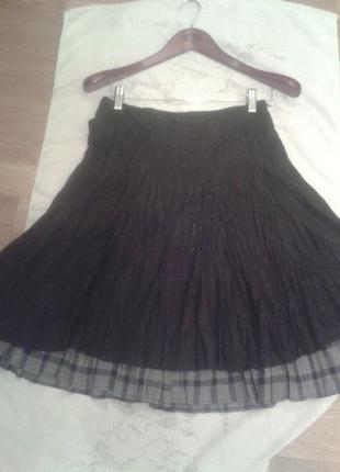 Серая юбка promod