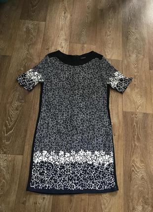 Фирменное трикотажное платье, сукня, плаття, платье цветы