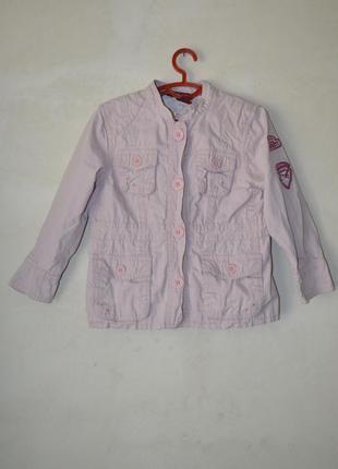 Куртка парка розовая демисезон