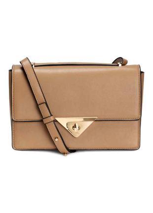 Бежевая сумка клатч,сумочка бежевого цвета h&m