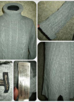 Вязаное теплое ,очень стильное платье massimo dutti4