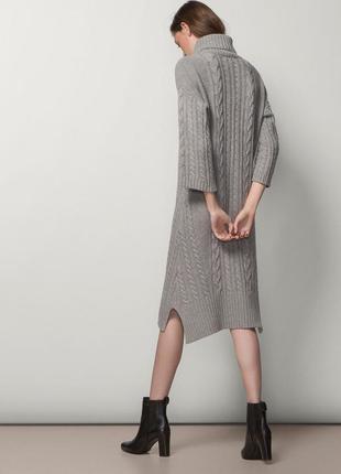 Вязаное теплое ,очень стильное платье massimo dutti5