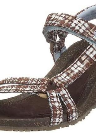 Женские сандалии босоножки на танкетке teva ventura cork 2.