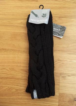 Новые черные митенки нові мітенки рукавиці, перчатки
