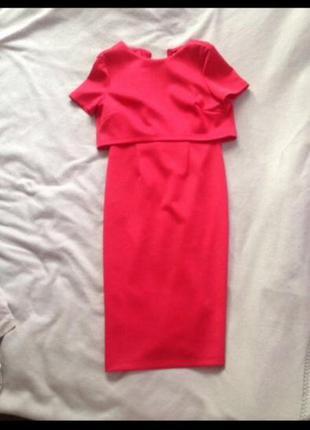 Платье asos миди красное