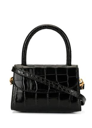 Шикарная трендовая сумка в стиле by far натуральная кожа