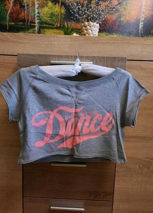 Спортивная укороченная футболка фирмы pure simple