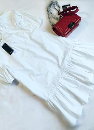 Крутое белоснежное платье бэби долл
