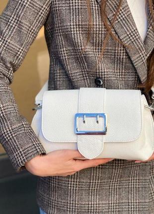 Женская сумочка-багет натуральная кожа италия