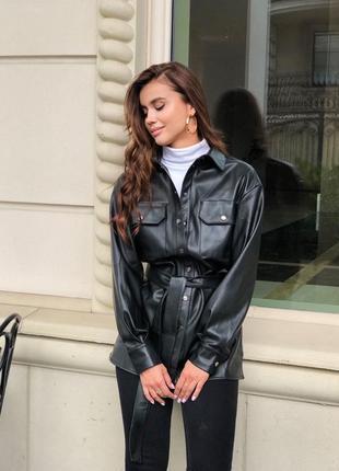 Куртка-рубашка из эко -кожи