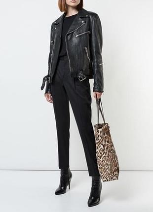 Леопардовая лаковая сумка шоппер