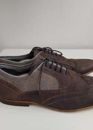 Туфли броги ручной работы, италия, р.43